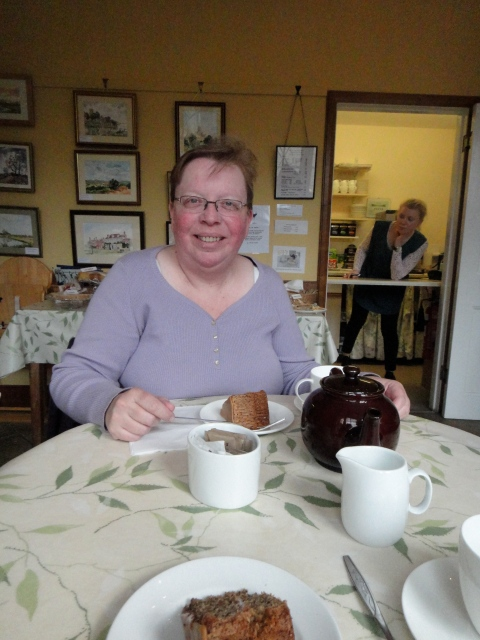 At Mompesson House.  We ate lots of cakes at National Trust properties.