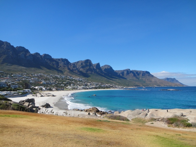 Camps Bay outside of Cape Town beneath the Twelve Apostles